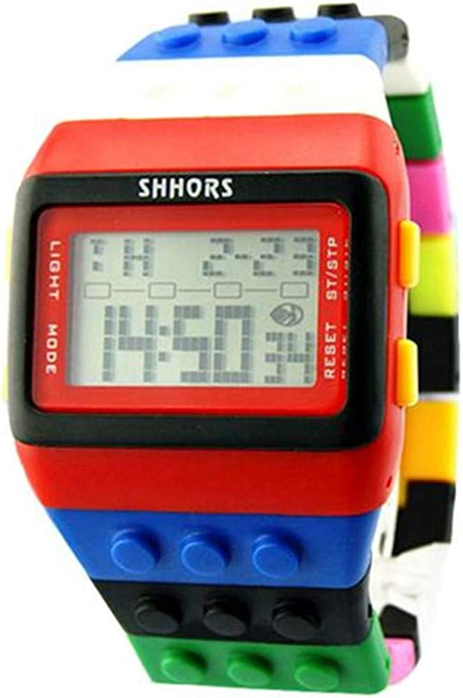 Unisex Colorful Digital Wrist Watch Bracelet Water-Resistant Digital Watch for Men Women Bracelet Watch Waterproof Swimming Frozen Sports Watch Boys Girls Led Digital Watches
