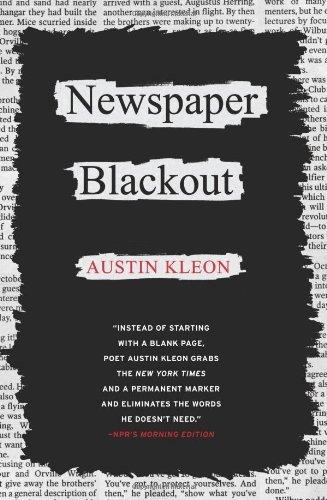 Newspaper Blackout by Austin Kleon (1-May-2010) Paperback
