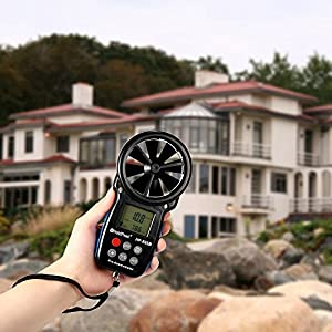 KKmoon HP-866B Mini LCD Digital Anemometer Wind Speed Air Velocity Temperature Measuring with Backlight