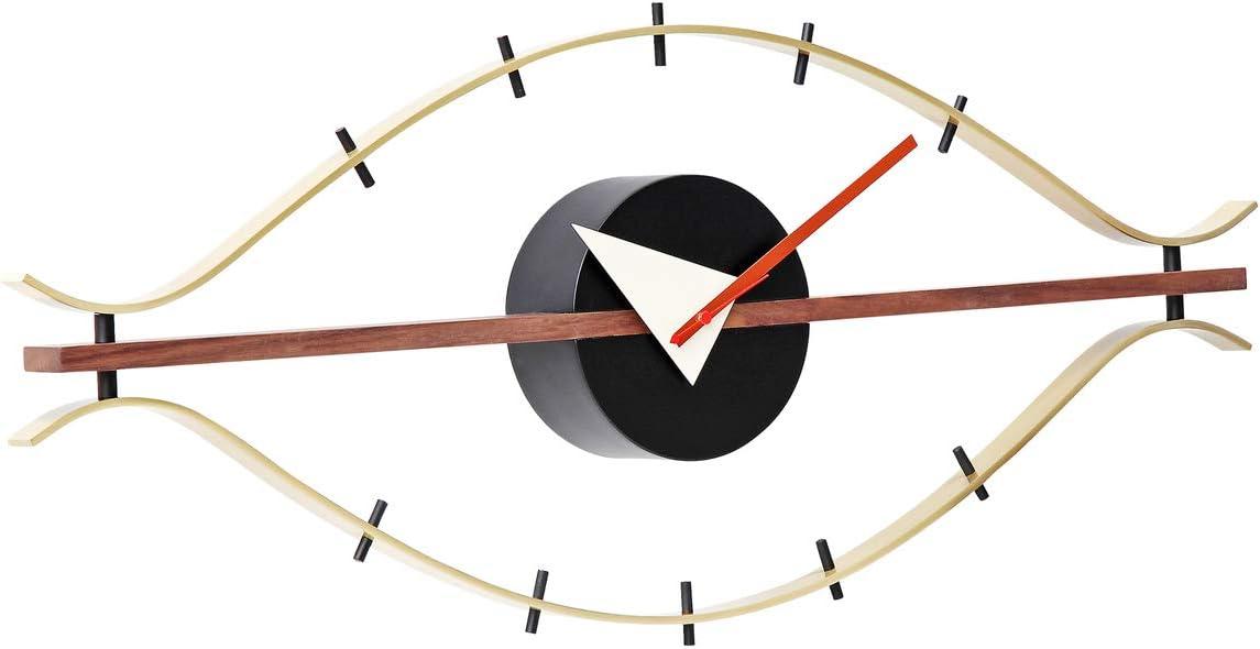 Artis Decor Eye Clock – Classic Mid-Century Modern Design Wall Clock Made with Walnut Brass