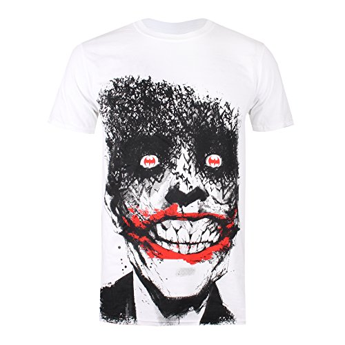 white White Comics Uomo Joker Eyes T Dc shirt White 0T7qw