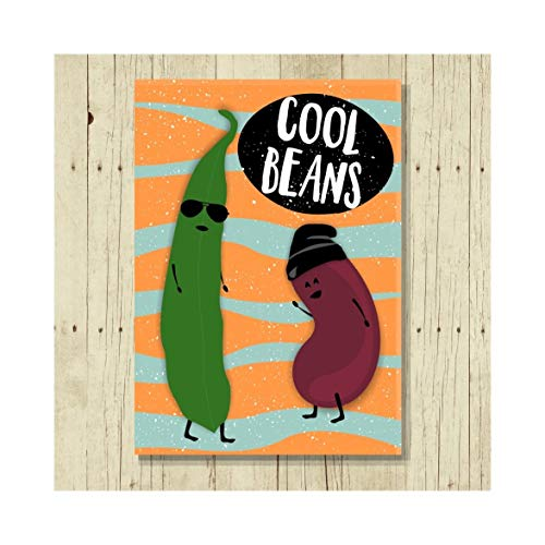 Cool Beans Magnet 80s Sayings Size 2.5