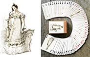 FlonzGift Victorian Fashion Playing Cards (Poker Deck 54 Cards All Different) Vintage Fashion Lady XIX Century