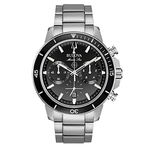 Bulova Men's 45mm Marine Star Stainless Steel Chronograph Bracelet ()