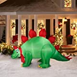 Holiday Time Animated Stegosaurus Air-blown Inflatable (9 Feet Wide)