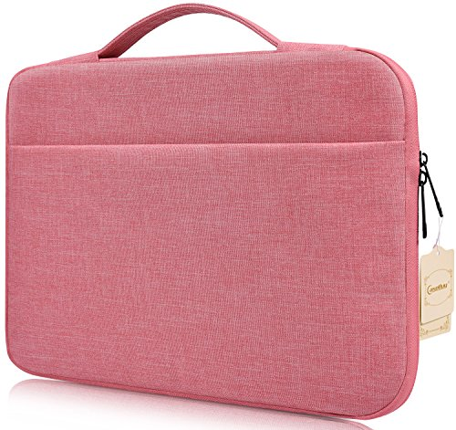 2013 Notebook (MacBook Pro 15 Inch Sleeve Case, CASEBUY Water Resistant Laptop Bag for MacBook Pro 15 Touch Bar 2017 (A1707) / 15 Inch MacBook Pro Retina 2012-2015 / Dell XPS 15 Notebook Chromebook Case, Pink)