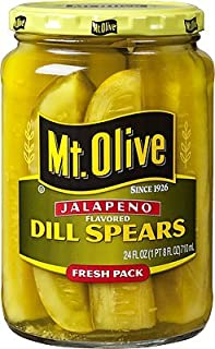product image for Mt. Olive Jalapeno Pickles 24oz Glass Jar (Pack of 2) Select Flavor Below (Dill Spears)