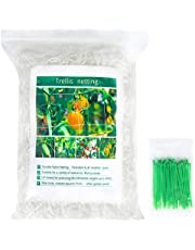 Unves Garden TrellisNetting - 5 x 30ft, Heavy Duty Polyester Plant Support Netting Grow Net, Square Mesh Net for Climbing Plant, Fruits, Vegetables and Vines(1 Pack)