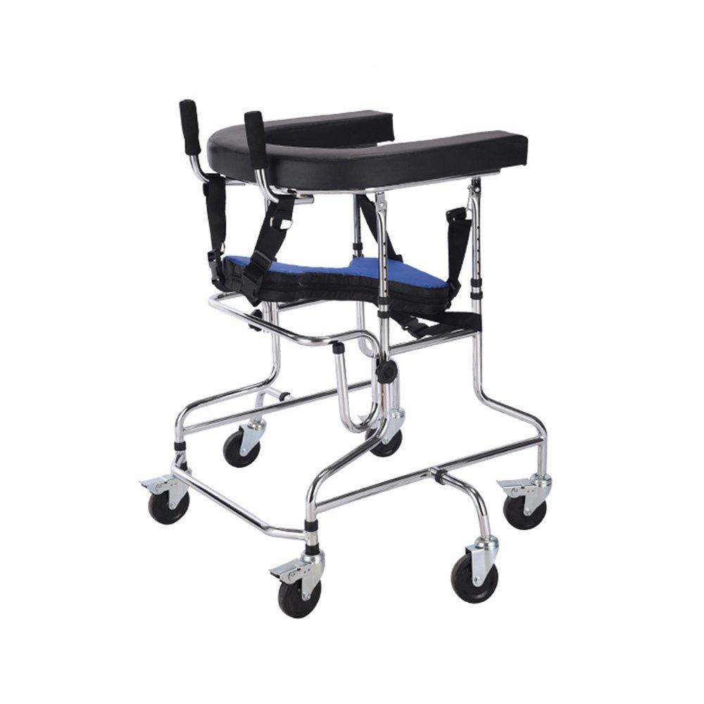 毎日 スタンドウォークスタンド/ウォーカー/ウォークエイド/シートフレーム付きリヤスタンドフレームリハビリ装置折りたたみ高さ調節可能な下肢歩行不能なスキッドスタンド子供スタンドフレーム B07DN3NYTG