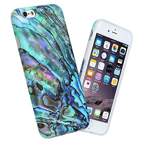 """iPhone 6 case, 4.7"""" Ultra Thin Anti-Scratch Shock Proof Anti-Finger Flexible Soft TPU Case For iPhone 6 & iPhone 6S, White Marble Design (abalone) from GiiKa"""