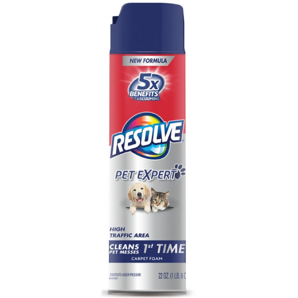 Resolve Pet Expert High Traffic, Carpet Foam, 22 oz (Pack of 6)