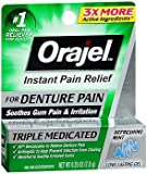 Orajel Instant Pain Relief Gel Refreshing Mint Flavor - 0.25 oz, Pack of 2