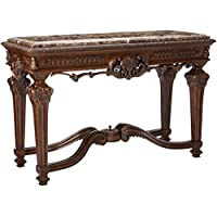 Ashley Furniture Signature Design - Casa Mollino Console Sofa Table - Traditional Styling with Ornate Accents - Dark Brown
