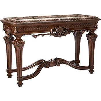 Ashley Furniture Signature Design - Casa Mollino Console Sofa Table - Traditional Styling with Ornate Accents - Dark Brown