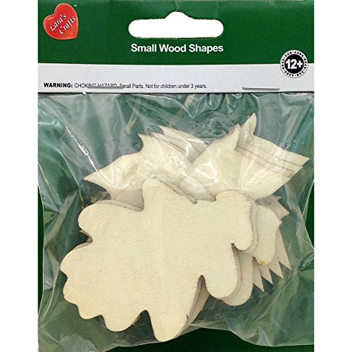 New Image Group NI201-22808 Assorted Wood Oak & Maple Leaves Shapes (8 Pack)