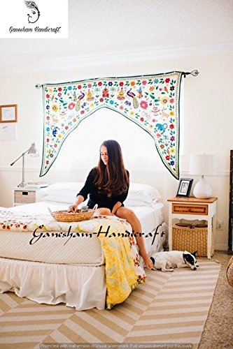 Indian Handmade Decorative Home Decor Vintage Banjara Door Valances Hippie Bohemian Vintage Wall Hanging Tapesty Indian Hand Embroidered Window Valances Patchwork Toran