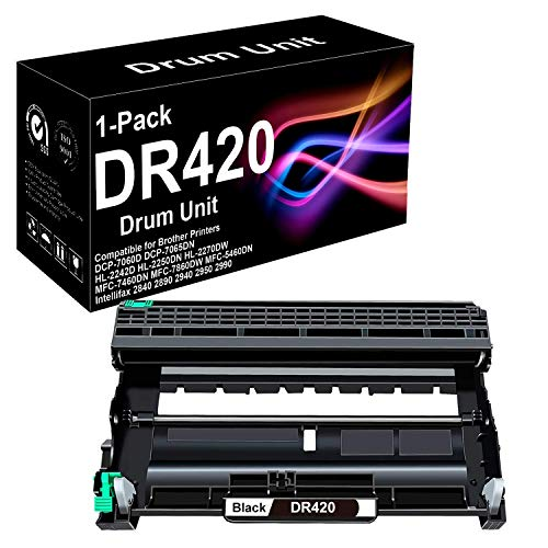 1 Pack Compatible High Yield DCP-7055 Laser Printer Drum Unit Replacement for Brother DR420 Drum Unit (Black), Sold by BUADCK