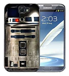 Ipod Touch 5 Black Rubber Silicone Case - Star Wars R2D2 Metallic Metal Style Cool