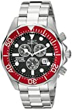 invicta white dial men - Invicta Men's 12570 Pro Diver Chronograph Black Carbon Fiber Dial Stainless Steel Watch