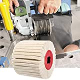 Maslin Deburring Abrasive Wool Round Brush Polishing Grinding Buffing Striping Wheel