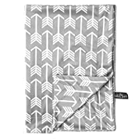 "Kids N' Such Minky Baby Blanket 30"" x 40"" - Grey Arrow - Soft Swaddle Blanket..."
