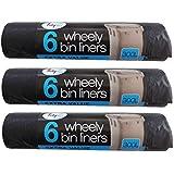 18x fuerte 300L exterior Wheely Residuos de basura bolsas de basura para cubos 230x 143cm