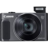 Canon PowerShot SX620 Digital Camera w/25x Optical Zoom - Wi-Fi & NFC Enabled (Black), SanDisk Ultra 16GB SDHC Memory Card, Ritz Gear Mirrorless Large Point & Shoot Camera Bag and Accessory Bundle from Canon