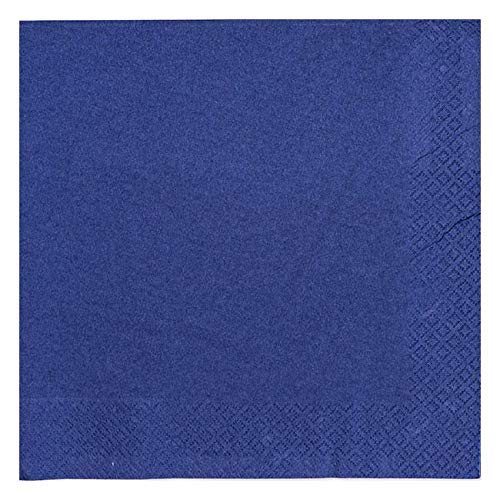 250 x Navy Blue 2 Ply 33cm 4 Fold Paper Napkins Tissue Serviettes for Birthdays Weddings Parties All Occasions Thali Outlet/®