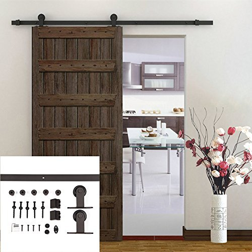 Homedex 6.6 Ft Modern European Style Barn Wood Sliding Door Hardware Track Set by Homedex by Homedex