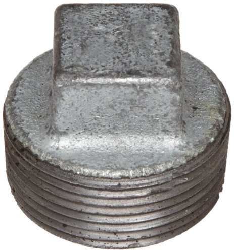 Anvil 8700160107, Malleable Iron Pipe Fitting, Square Head Plug, 2