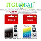 Canon 810 & 811 Combo Ink Cartridge [Set of 2 Cartridge] -Special ITGLOBAL Combo with Scratch & Win Offer (PG 810 & CL 811) Black & Color