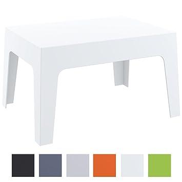 CLP Table Basse de Jardin Box en Plastique -Table d\'Appoint pour Usage  Extérieur Empilable - Hauteur 43 cm Résistante aux Intempéries et aux  Rayons ...