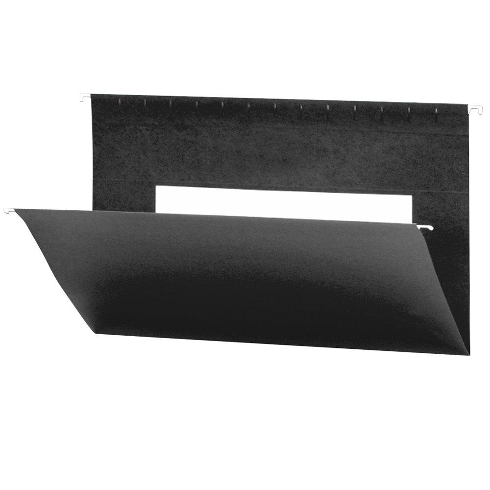 Smead Hanging File Folder with Interior Pocket, Legal Size, Black, 25 per Box (64477)
