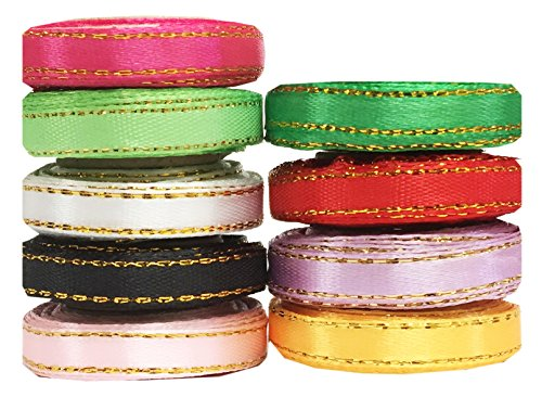 Ship From USA--Hip Girl Boutique Solid Ribbon Value Pack (45yd(9x5yd) 1/4