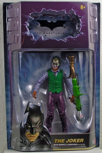 Batman The Dark Knight The Joker - Batman Dark Knight Movie Master Exclusive Deluxe Action Figure Joker with Missile Launcher