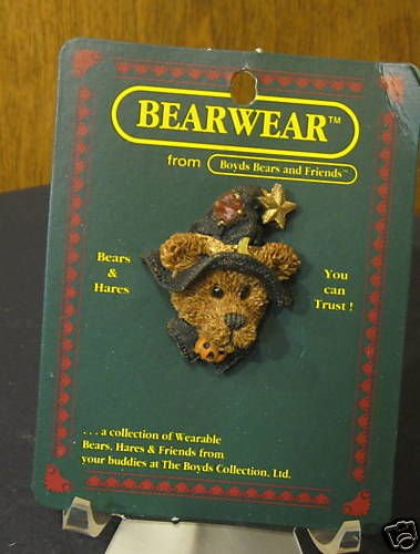 Boyds Bearwear Pin #2632 Emma the Witchy Bear, (Witchy Bear)