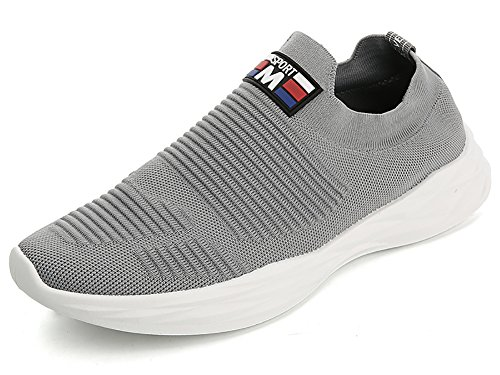 No.66 Town Men Flyknit Sneakers,Running Sock Shoes # Grey