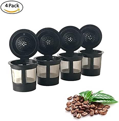 4 Permanent Coffee Filters for Keurig B30, B31, B40, B41, B60, B70, K40, K45, K65, K75. Replaces Keurig My K-cup(tm), Solofill(tm), Ekobrew(tm) and all other reusable coffee filters for Keurig Home Single Cup Brewing Systems