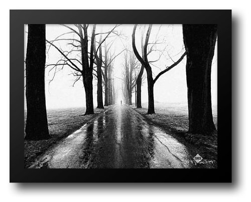 (Jogger 36x28 Framed Art Print by Silver,)