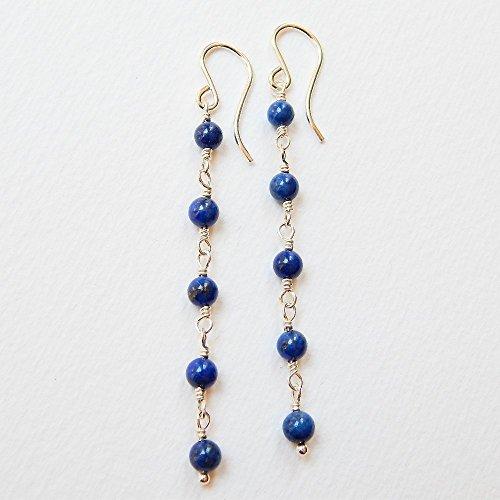 Denim Lapis Earrings in Sterling (Denim Lapis Ring)