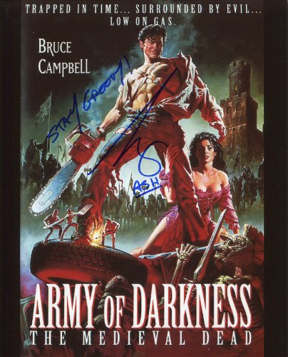 Bruce Campbell Signed / Autographed 8x10 glossy Photo as Ash from Army of Darkness and Evil dead. Includes Fanexpo Fanexpo Certificate of Authenticity and Proof of signing. Entertainment Autograph Original. from Star League Sports