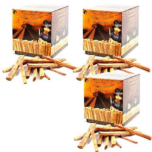 Mayan FlameTM Fatwood - Varillas de Fuego 100% Naturales S4U®: Amazon.es: Deportes y aire libre