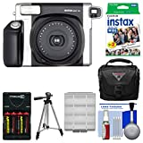 Fujifilm Instax Wide 300 Instant Film Camera with 20 Wide Twin Prints + Case + Batteries & Charger + Tripod + Kit