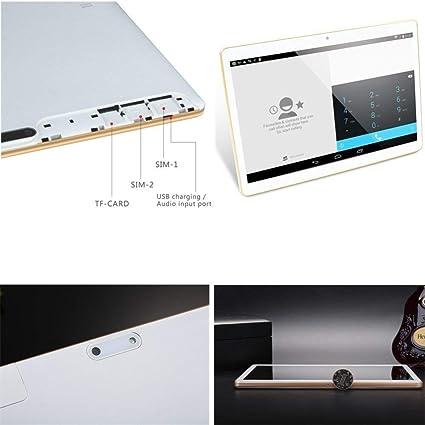 Tablet de 10 Pulgadas con Procesador de Ocho núcleos 2GB de RAM+ 32GB de Memoria Bluetooth Dual SIM 3G Navegación también es un móvil (Blanco): Amazon.es: Informática