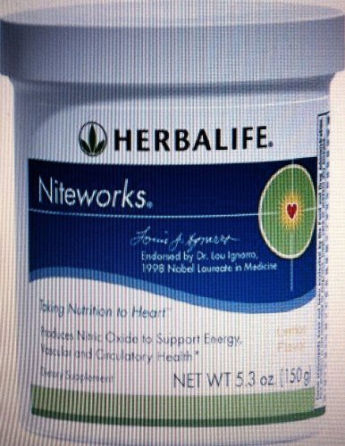 Herbalife Niteworks Powder Mix, Trial Size, Developed with Nobel Laureate in Medicine Dr. Lou Ignarro., Kosher, Trial-Size 5.3 oz