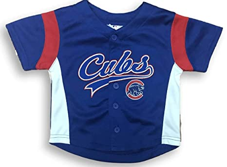 brand new 3cb2d 52020 Majestic Chicago Cubs Button Down Toddler Jersey