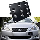 Dewhel Sport Front Bumper Tow Hook License Plate Mount Bracket Holder Bolt On For Lexus IS250 IS350 CT200