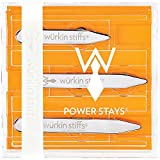 "Würkin Stiffs Magnetic Power Collar Stays (3 Pair) (3 Pair, Assorted (2.0"", 2.5"", 2.75""))"