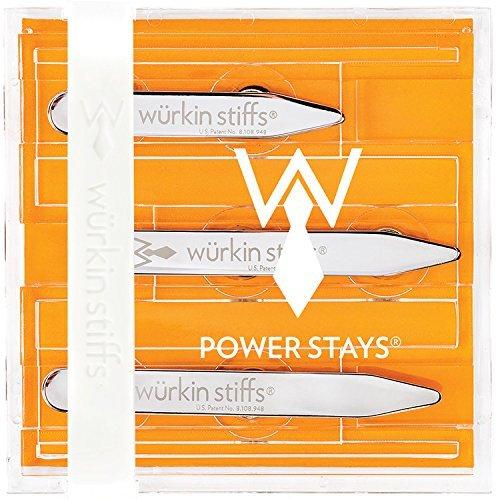 Wurkin Stiffs Magnetic Power Collar Stays (3 Pair) (3 Pair, Assorted (2.0