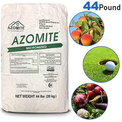 Azomite AZOMITE-44-1 Azomite-44A Micronized Bag, 44 lb, White ()